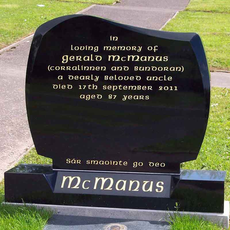 McGovern Memorial Headstone Design